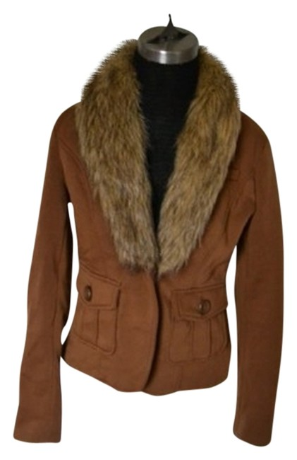 Brown Faux Fur Blazer Size 6 (S) Brown Faux Fur Blazer Size 6 (S) Image 1