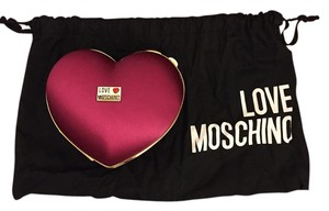 Love Moschino Satin Fuchsia Clutch