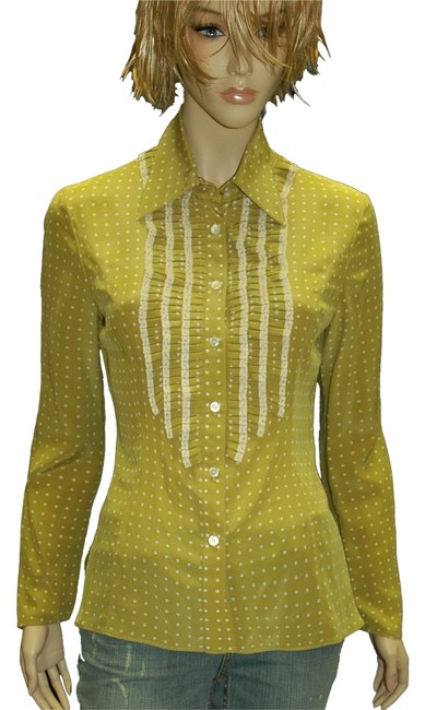 Preload https://img-static.tradesy.com/item/11914828/valentino-light-green-silk-polka-dot-with-ruffles-and-lace-blouse-size-4-s-0-1-650-650.jpg