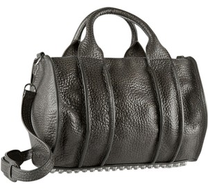Alexander Wang Textured Leather Rocco Inside Out Studded Shoulder Bag
