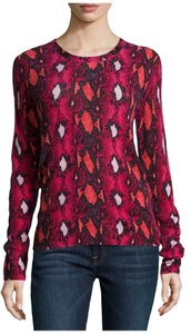 Equipment Cashmere Snake Print Sweater