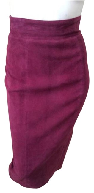Item - Plum Suede Skirt Size 4 (S, 27)