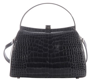 Judith Leiber Crocodile Evening Gray Exotic Shoulder Bag