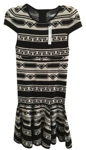 Alice + Olivia short dress Black/Oatmeal on Tradesy