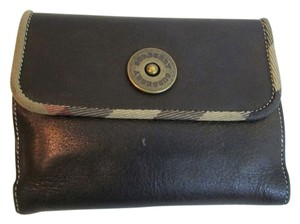 Burberry Burberry Dark Brown Leather Trifold Wallet Burberry