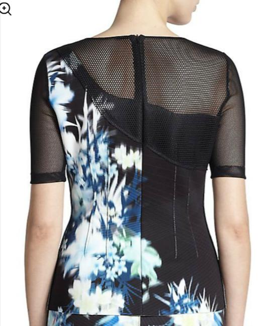 Elie Tahari Top Abstract Floral Image 2