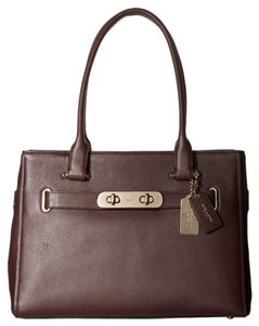 Coach Pebble Leather New Swagger New With Tags Satchel