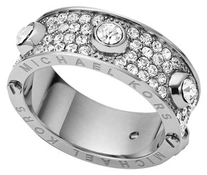 Michael Kors Michael Kors Heritage Astor Silver Tone Pave Crystal Ring SIZE 7