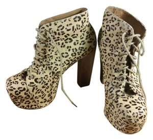 Jeffrey Campbell Chunky Leopard Boots