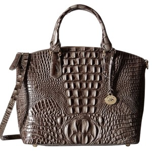 810c0346c Brahmin Leather Imported Synthetic Lining Zipper Closure Drop 9.5