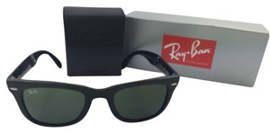 Ray-Ban RAY BAN FOLDING WAYFARER AUTHENTIC RAY BAN BLACK/GREEN 50mm SUNGLASSES