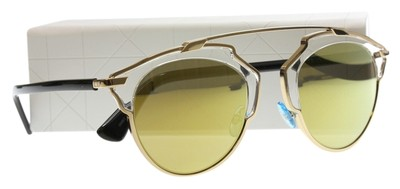 Dior NEW SO REAL Gold Frame Sunglasses with Gold Mirror ...
