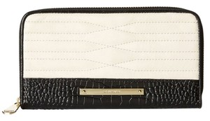 Brahmin Creme Leather Wallet Black and White Clutch