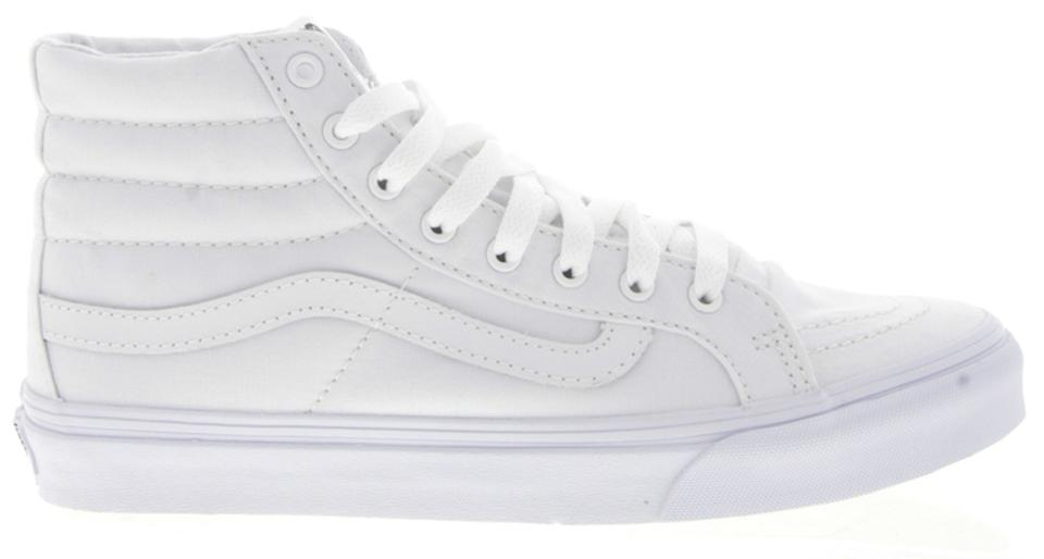 Vans Sneakers Sk8-hi Slim White Canvas Sneakers Vans Womens Sneakers c2d9b5