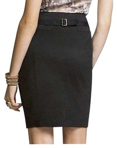 Express Pencil Skirt Black Buckle Back