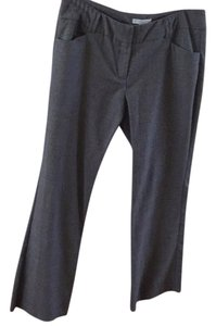 New York & Company Flare Pants Black and white