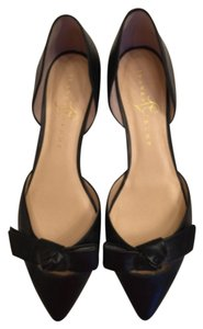 Ivanka Trump Leather Flat Black Flats