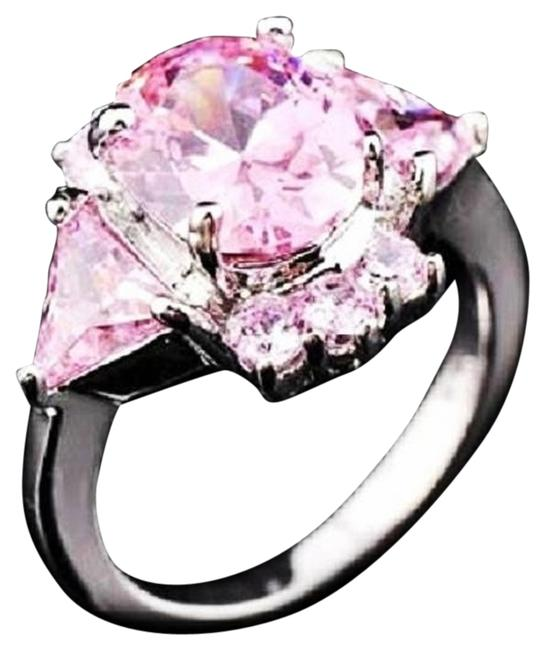 Pink/Silver 14kt White Gold Filled Cz Ring Pink/Silver 14kt White Gold Filled Cz Ring Image 1