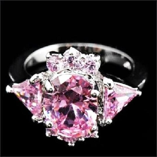 Other 14kt White Gold Filled Pink CZ Ring Image 1