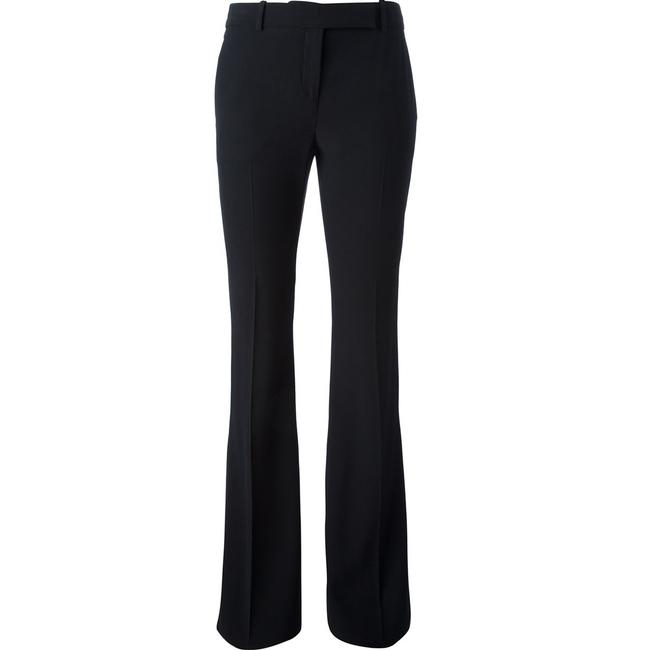 Alexander McQueen Silk Rayon Tailored Luxury Boot Cut Pants Black Image 1