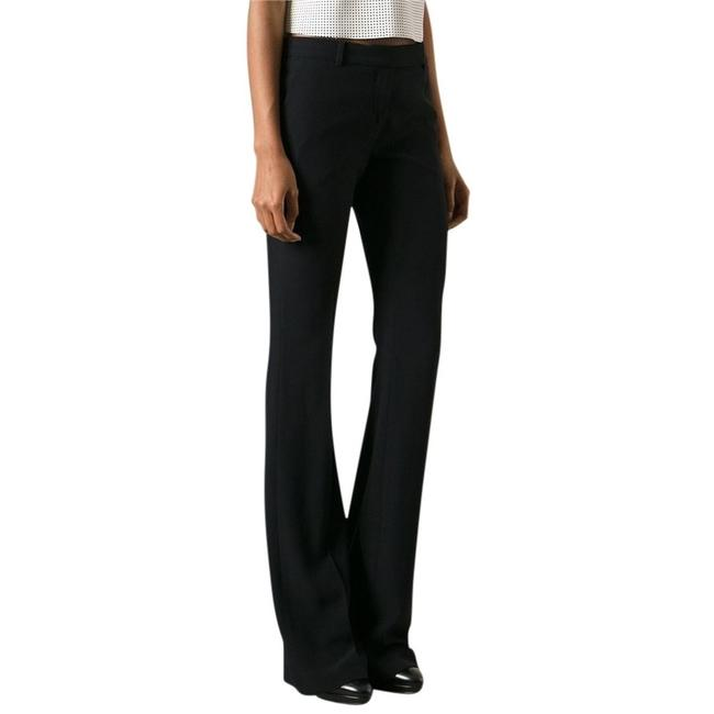 Alexander McQueen Silk Rayon Tailored Luxury Boot Cut Pants Black Image 2