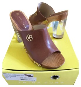 Trina Turk Luggage Tan Mules