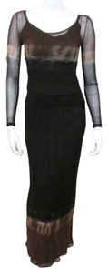Black ombre Maxi Dress by Vivienne Tam Set Outfit