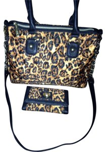 Betsey Johnson Satchel in Black And Browns