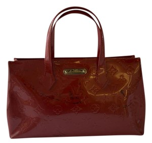 Louis Vuitton Patent Vernis Tote in Orange Sunset