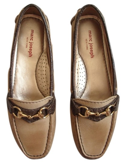 Marc Joseph New York Tan with Brown trim Flats