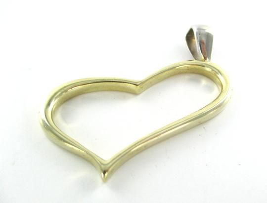 Other 14K SOLID YELLOW WHITE GOLD HEART PENDANT RTSD DESIGNER FINE JEWELRY 7.9 GRAMS Image 8