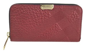 Burberry Textured Leather Zip Wallet