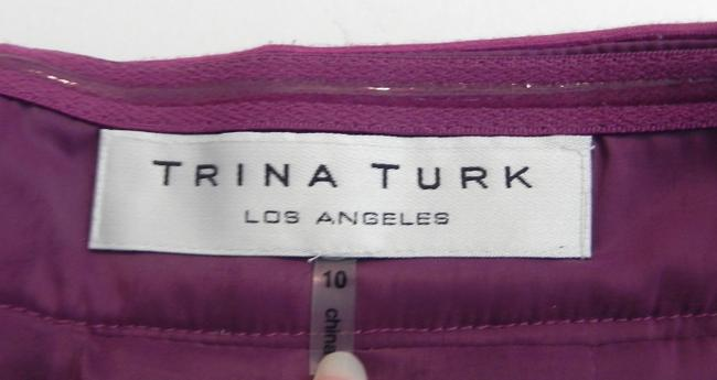 Trina Turk Peek-a-boo Hem Strapless Lined Dress