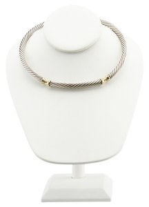 David Yurman David Yurman Sterling Silver & 14K Cable Necklace