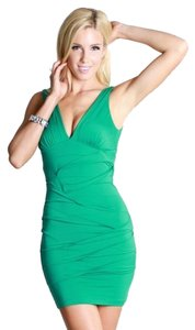 Nikibiki Seagreen Deep V Neck Sexy Dress