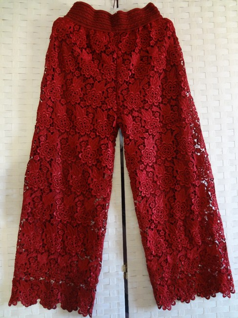 Other Wide Leg Pants red Image 1