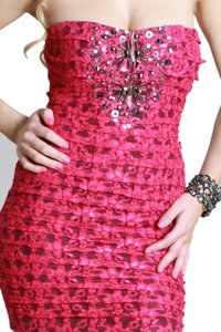 Nikibiki short dress Magenta Lace Tiered on Tradesy