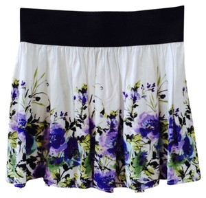 A. Byer Mini Skirt White, Purple, Green