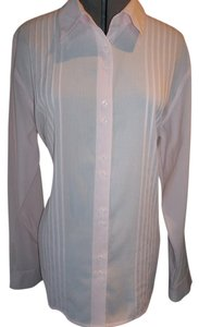 Christopher & Banks Light Xlarge Longsleeve Button Down Shirt Pale Pink