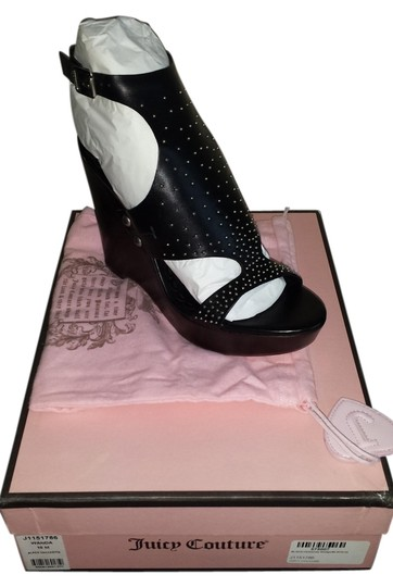 Juicy Couture black Wedges