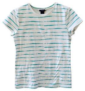 Ann Taylor T Shirt White, Teal