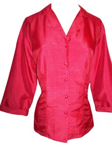 Kathie Lee Collection Casual Career Top Red