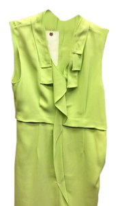 Tahari short dress Lime green Sleeveless Polyester on Tradesy