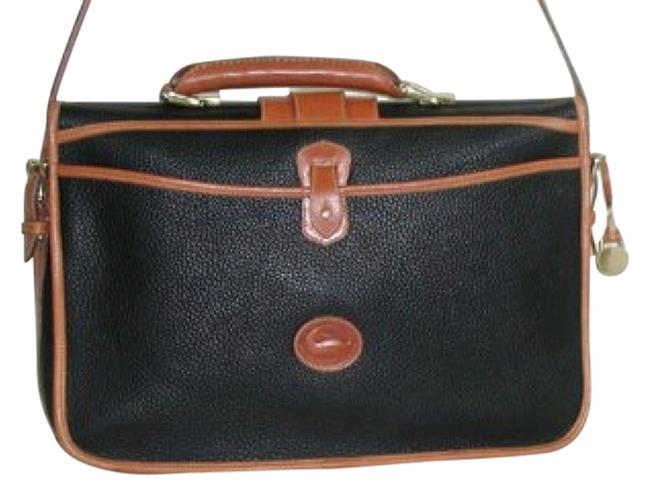 Item - Serial #a4 321 173 Black and Tan All-weather Leather Laptop Bag