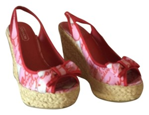 Coach Pink Red Wedges