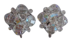 Laguna Crystal Bead Cluster Clip On Earrings