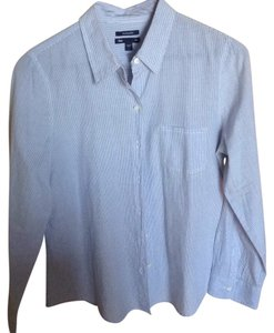 Gap Button Down Shirt Blue & white stripes