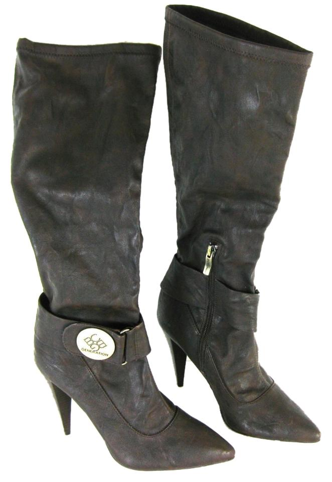 BCBGeneration Brown Bcbg High Knee High Bcbg Distressed Boots/Booties 2c3090