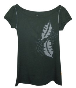 Fossil Unique Designs Casual Summer T Shirt Green/light Gray