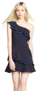 BCBGMAXAZRIA short dress Dark blue on Tradesy